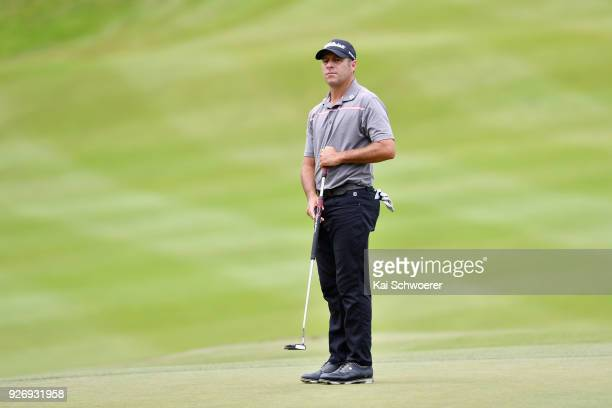 Terry Pilkadaris of Australia looks on during day four of the ISPS Handa New Zealand Golf Open at Millbrook Golf Resort on March 4 2018 in Queenstown...