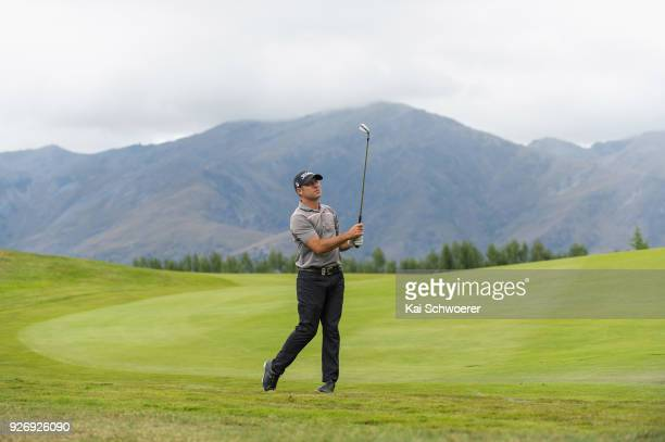 Terry Pilkadaris of Australia plays a shot during day four of the ISPS Handa New Zealand Golf Open at Millbrook Golf Resort on March 4 2018 in...