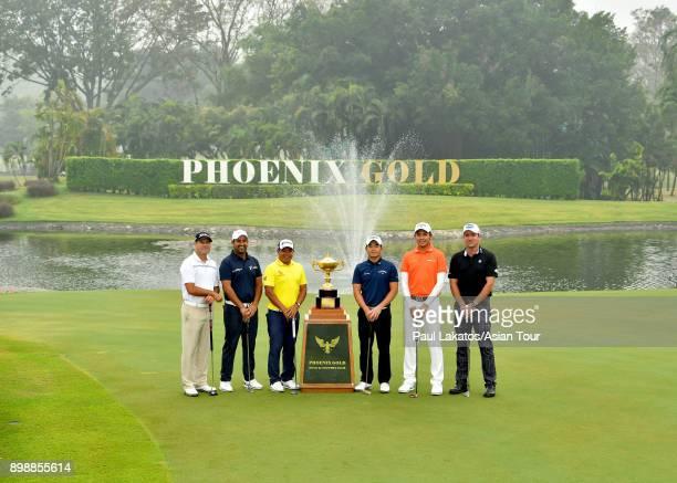 Terry Pilkadaris of Australia Shiv Kapur of India Prayad Marksaeng of Thailand Chan Shihchang of Chinese Taipei Phacahra Khongwatmai of Thailand and...