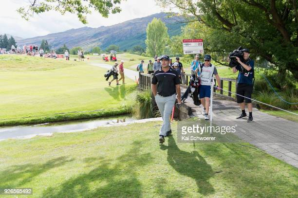 Terry Pilkadaris of Australia walks to the 17th green during day three of the ISPS Handa New Zealand Golf Open at Millbrook Golf Resort on March 3...