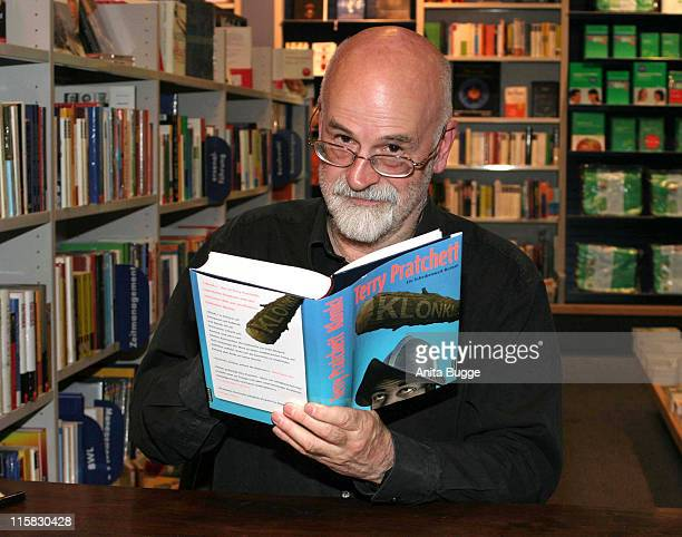 Terry Pratchett during Terry Prachett Signs His New Book Klonk in Berlin September 12 2006 in Berlin Berlin Germany