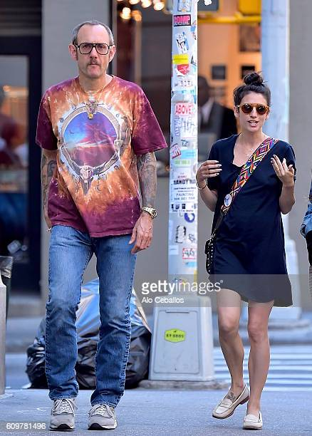 Terry Richardson and Alex Bolotow are seen in Soho on September 22 2016 in New York City