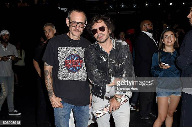Terry Richardson and Olivier Zahm attends the Jeremy Scott fashion show during New York Fashion Week The Shows at The Arc Skylight at Moynihan...