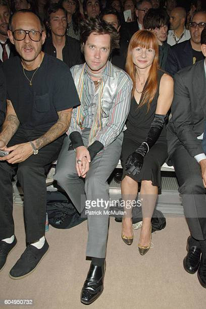 Terry Richardson, Rufus Wainwright and ? attend MARC JACOBS Spring 2007 Fashion Show at New York Armory on September 11, 2006 in New York City.