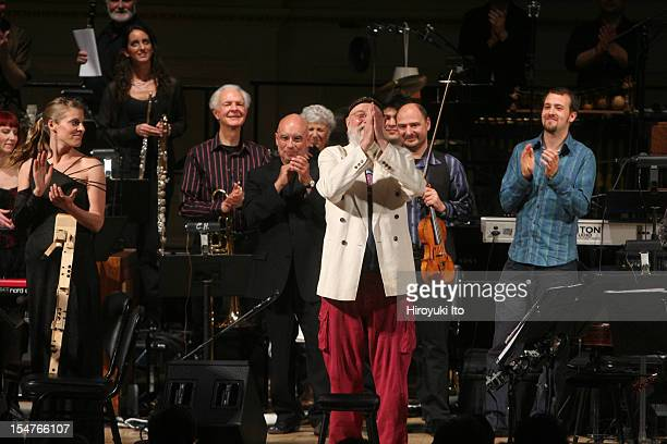 Terry Riley's In C at Carnegie Hall on Friday night April 24 2009This imageCurtain call Terry Riley center with Dennis Russell Davies John Sherba...
