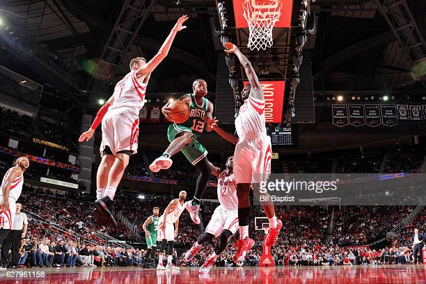 Terry Rozier of the Boston Celtics goes for a lay up against the Houston Rockets during the game on December 5 2016 at the Toyota Center in Houston...
