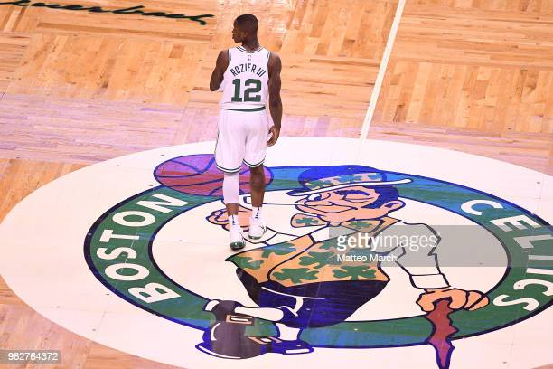 Terry Rozier of the Boston Celtics looks on during the game against of the Cleveland Cavaliers on Game Five of the 2018 NBA Eastern Conference Finals...