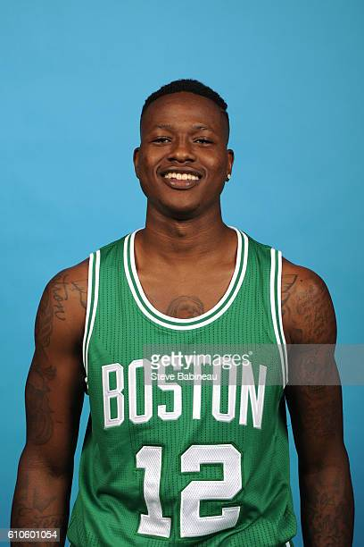 Terry Rozier of the Boston Celtics poses for a head shot during the 20162017 Boston Celtics Media Day on September 26 2016 at the TD Garden in Boston...