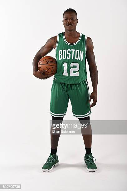 Terry Rozier of the Boston Celtics poses for a portrait during 20162017 Boston Celtics Media Day at TD Garden on September 26 2016 in Boston...