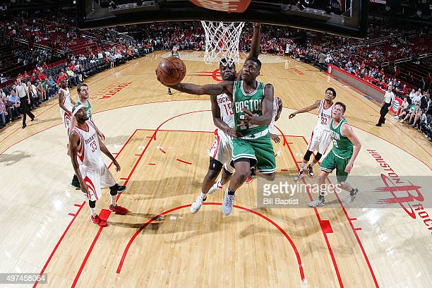 Terry Rozier of the Boston Celtics shoots the ball against the Houston Rockets on November 16 2015 at the Toyota Center in Houston Texas NOTE TO USER...