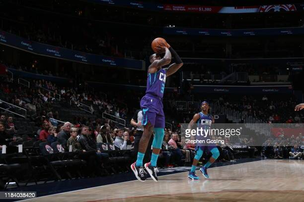 Terry Rozier of the Charlotte Hornets shoots the ball against the Washington Wizards on November 22 2019 at Capital One Arena in Washington DC NOTE...