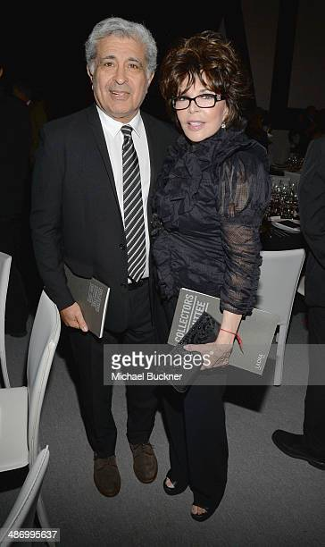 Terry Semel and Carole Bayer Sager attend LACMA's 2014 Collectors Committee Gala Dinner at LACMA on April 26 2014 in Los Angeles California