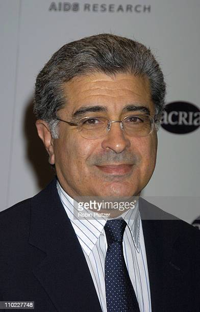 Terry Semel during amfAR and ACRIA Honor Herb Ritts with a Sale of Contemporary Artwork Arrivals at Sothebys in New York New York United States