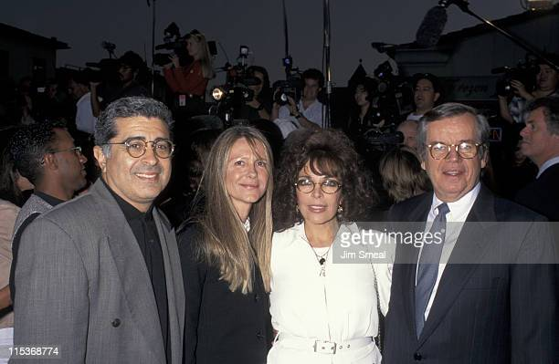 Terry Semel Wife Carol B Sager and Bob Daly during 'Twister' Los Angeles Premiere at Mann Village Theatre in Westwood California United States