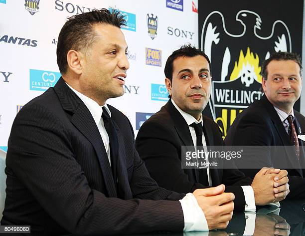 Terry Serepisos owner of the Phoenix talks about captain Ross Aloisi's announcement that he is retiring with CEO Tony Pignata during a press...