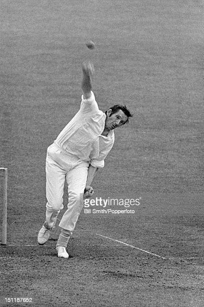 Terry Spencer bowling for Leicestershire during their John Player League match against Warwickshire at Edgbaston, 4th June 1972. Leicestershire won...
