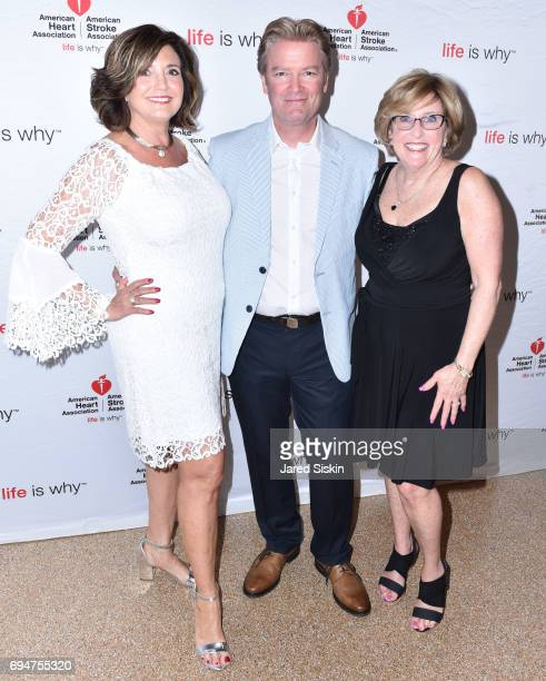 Terry Thompson Roy Gardner and Robyn Long attend the 21st Annual Hamptons Heart Ball at Southampton Arts Center on June 10 2017 in Southampton New...