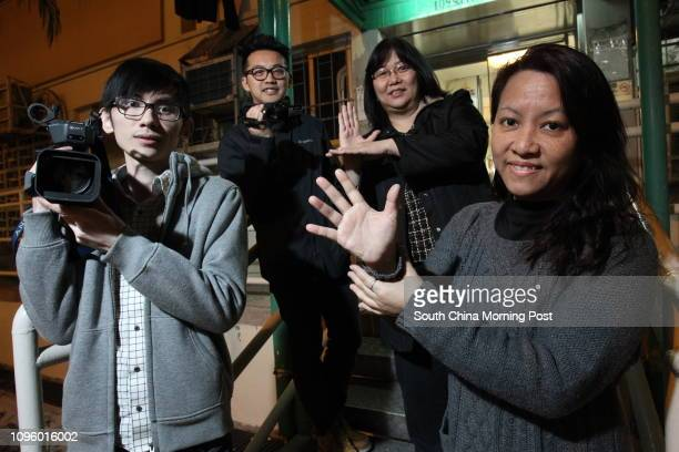 Terry Tsoi Keikwai Film director Anthony Cheung Cheukho News of Deaf Director Amy Ng Suiping and Hong Kong Association of the Deaf president Mary Lau...