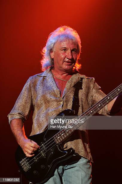 Terry Uttley of Smokie during Smokie in Concert in Seoul Korea September 23 2006 at Olympic Park in Seoul South Korea