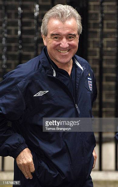 Terry Venables during Soccer Aid – Downing Street Reception at 10 Downing Street in London Great Britain