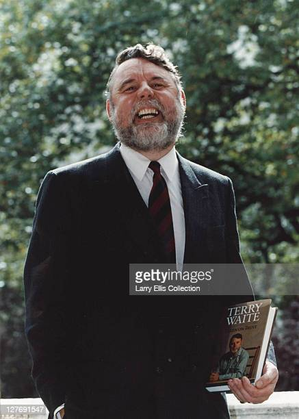 Terry Waite, formerly an envoy for the Church of England, with his autobiography 'Taken on Trust', which details his experience as a hostage in...