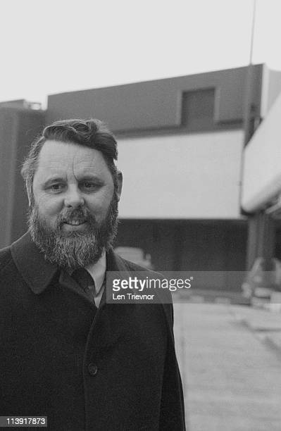 Terry Waite, the Archbishop of Canterbury's Assistant for Anglican Communion Affairs, at Heathrow Airport, London, circa 1985.