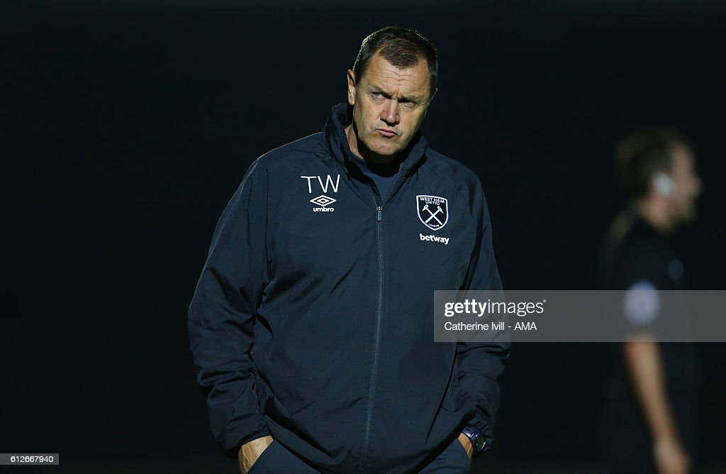 Terry Westley West Ham Academy Director during the Checkatrade trophy match between Wycombe Wanderers and West Ham United at Adams Park on October 4, 2016 in High Wycombe, England.