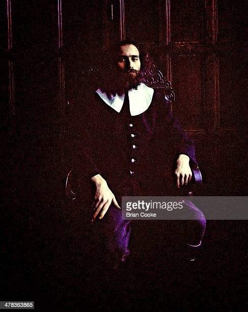 Terry Wincott of Amazing Blondel poses for the Fantasia Lindum album cover at Shibden Hall, Halifax in March 1971.