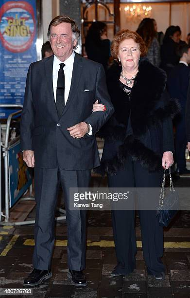 Terry Wogan and Helen Wogan attend the press night of I Can't Sing The X Factor Musical at London Palladium on March 26 2014 in London England