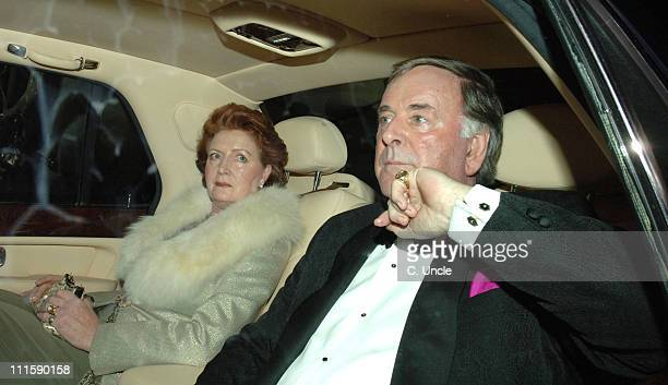 Terry Wogan and wife during Sir Elton John and David Furnish's Civil Partnership Ceremony Reception Arrivals at Windsor in Windsor Great Britain