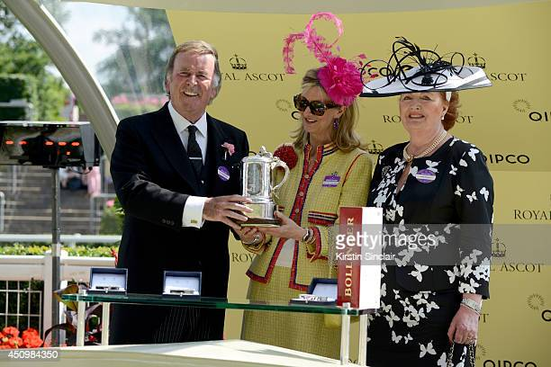 Terry Wogan Laura Weinstock and Helen Wogan during day five of Royal Ascot at Ascot Racecourse on June 21 2014 in Ascot England