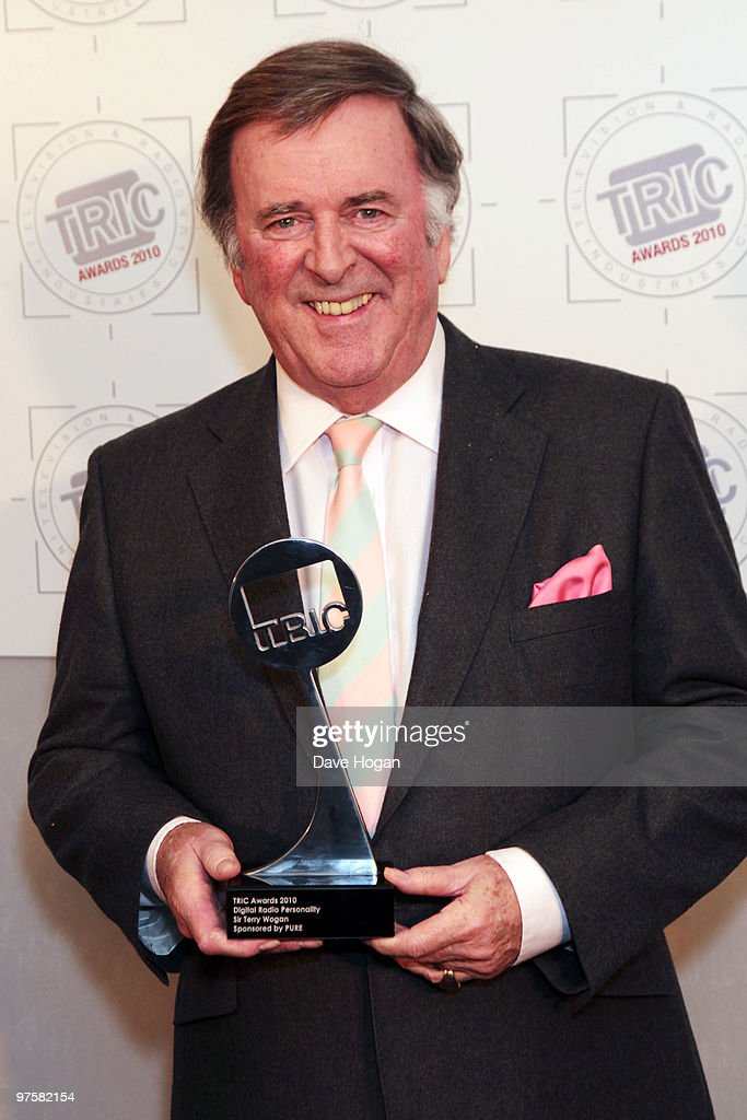 Terry Wogan poses with his Digital Radio Personality award in the press room at the TRIC Awards 2010 held at The Grosvenor House Hotel on March 9, 2010 in London, England.