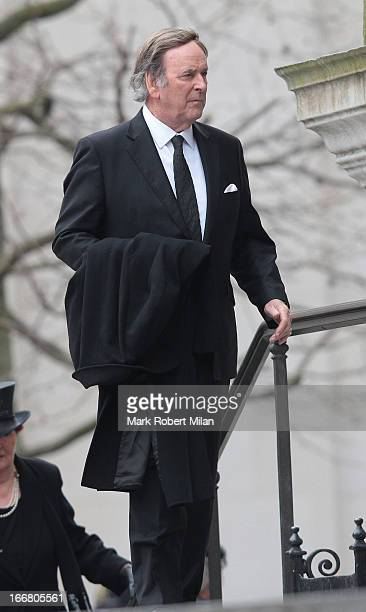 Terry Wogan sighting during the funeral of former Prime Minister Baroness Thatcher on April 17 2013 in London England