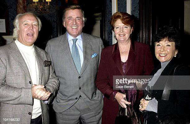 Terry Wogan With His Wife And Manager Deek 'Breath Of Life' Play At The Theatre Royal In London