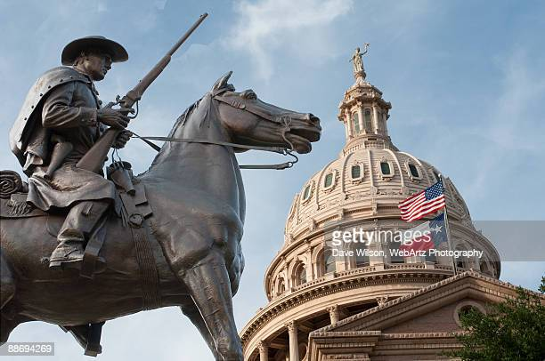 terry's texas rangers memorial and capitol dome - austin texas stock pictures, royalty-free photos & images