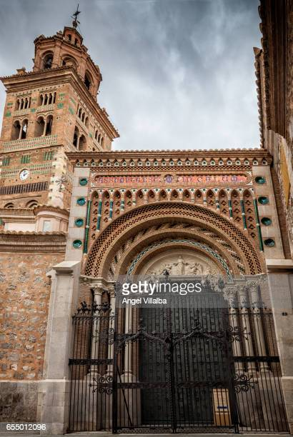 Teruel. Door and tower of the cathedral