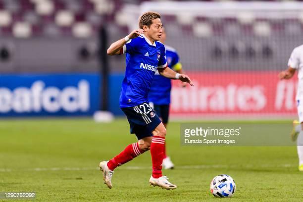 Teruhito Nakagawa of Yokohama Marinos in action during the AFC Champions League Round of 16 match between Yokohama F.Marinos and Suwon Samsung...