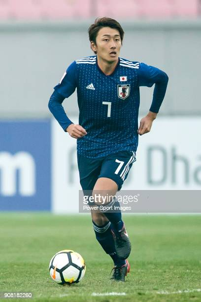 Teruki Hara of Japan in action during the AFC U23 Championship China 2018 Quarterfinals match between Japan and Uzbekistan at Jiangyin Stadium on 19...