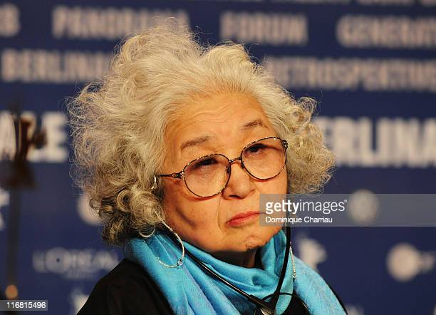Teruyo Nogami scriptwriter attends the Kabei Our Mother' Photocall on day seven of the 58th Berlinale Film Festival at the Grand Hyatt on February 13...