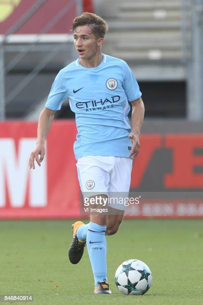 Teryeke Wilson of Manchester City U19 during the UEFA Youth League match between Feyenoord Rotterdam U19 and Manchester City U19 at the van Donge de...