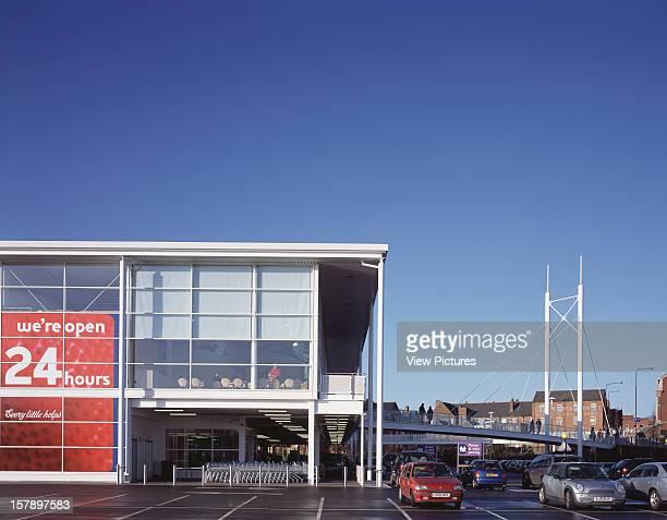 Tesco Altrincham United Kingdom Architect Michael Aukett Architects Tesco Bridge And Cafe