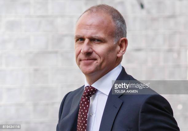 Tesco CEO Dave Lewis arrives in Downing Street to attend a business summit with Britain's Prime Minister in central London on July 20 2017 The EU's...
