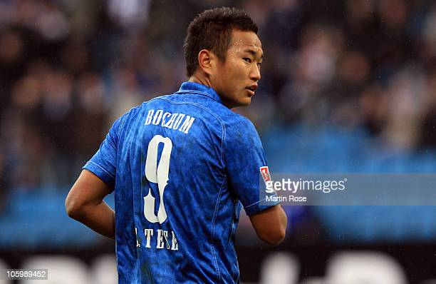 Tese Chong of Bochum reacts during the Second Bundesliga match between VfL Bochum and Alemannia Aachen at the Rewirpower Stadium on October 24, 2010...