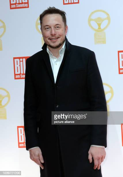 Tesla boss and internet entrepreneur Elon Musk at the Golden Steering Wheel prize for best new cars award show sponsored by the German newspaper Bild...