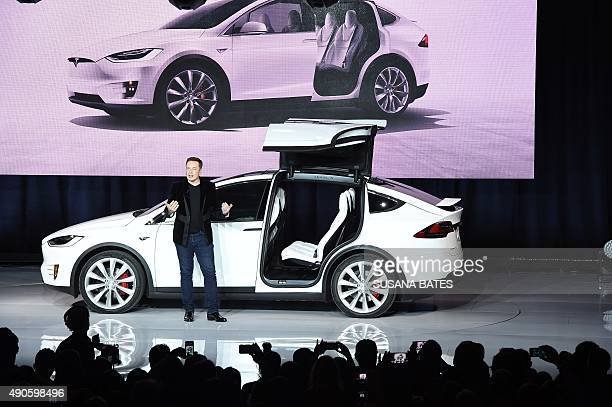 Tesla CEO Elon Musk speaks at the Model X launch event in Femont California on September 29 2015 AFP PHOTO/SUSANA BATES
