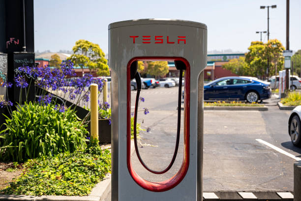 CA: A Tesla Charging Station And Store Ahead Of Earnings Figures