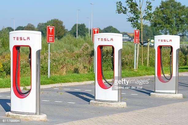 Tesla Ladestation für Elektroautos Supercharger