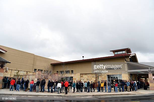Tesla fans stand in long lines at Park Meadows Mall March 31 2016 to preorder the new Tesla due to be unveiled Thursday night Some Tesla fans showed...
