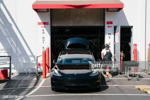 Tesla Model 3 rolls out of the Tesla factory in Fremont California on Thursday July 26 2018