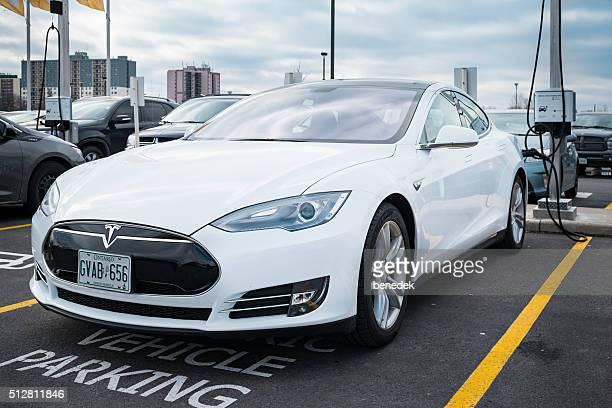 Tesla Model S at Charging Station